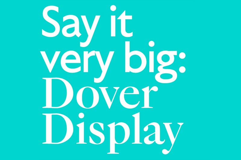 Dover Display & Monumental Grotesk / Tiny Type Co  - slanted