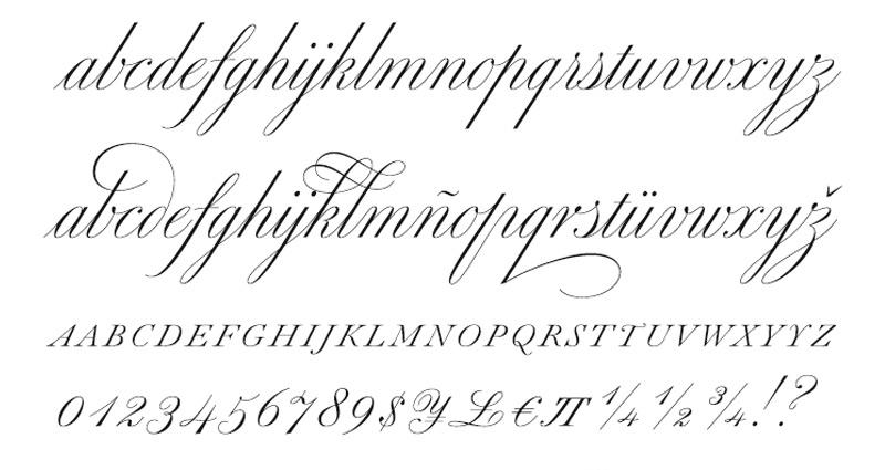 Beatiful Non English Letters