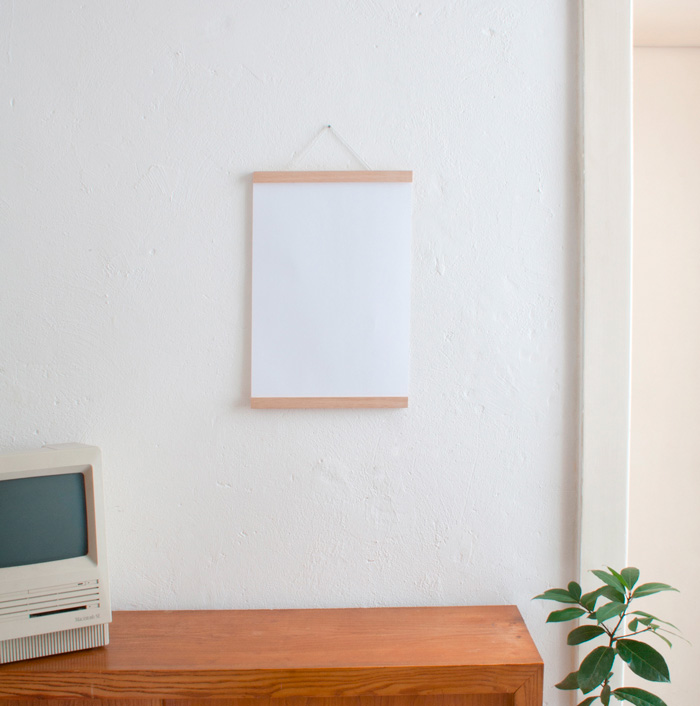 magnetische posterleiste a3 a2 verlosung slanted typo weblog und magazin. Black Bedroom Furniture Sets. Home Design Ideas