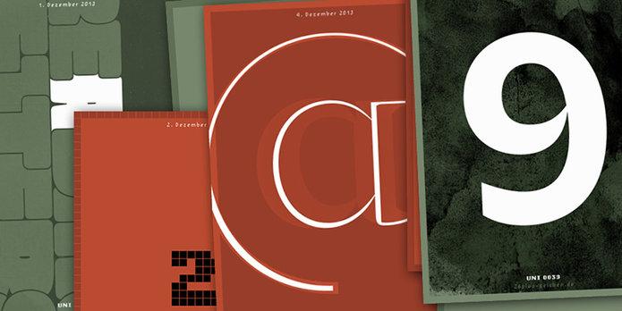 26 adventskalender slanted typo weblog und magazin. Black Bedroom Furniture Sets. Home Design Ideas