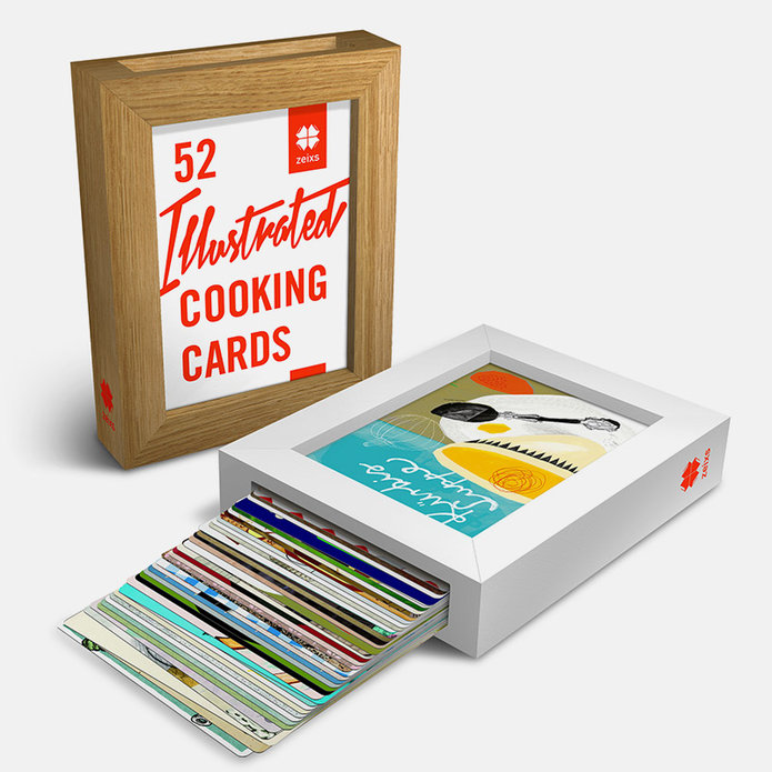 52 Illustrated Cooking Cards – Edition 1 / Rezepte zum Verlieben!