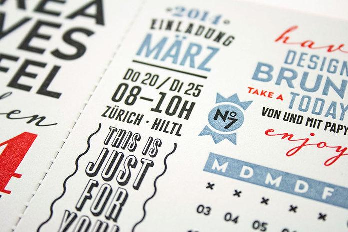 leckerbissen auf büttenpapier – einladung zum kreativen, Einladung