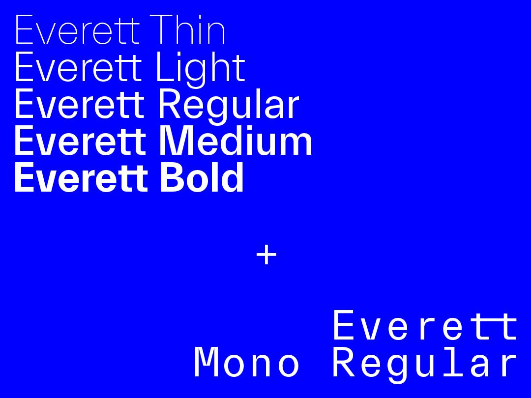 Everett font family - slanted