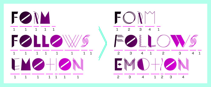 font, typeface, opentype, interactive, mixed, generative, shuffle, random, display, interactive, alternates, contrast, light, bold, headline, graphic, unsusual, geometric, eccentric, shapes, decorative, abstract, vibrant, unique, avantgarde, elegant, fashion, minimal, elena schädel, jakob runge