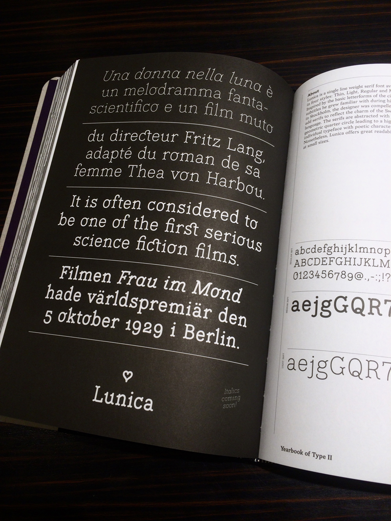 Lunica in Yearbook of Type II