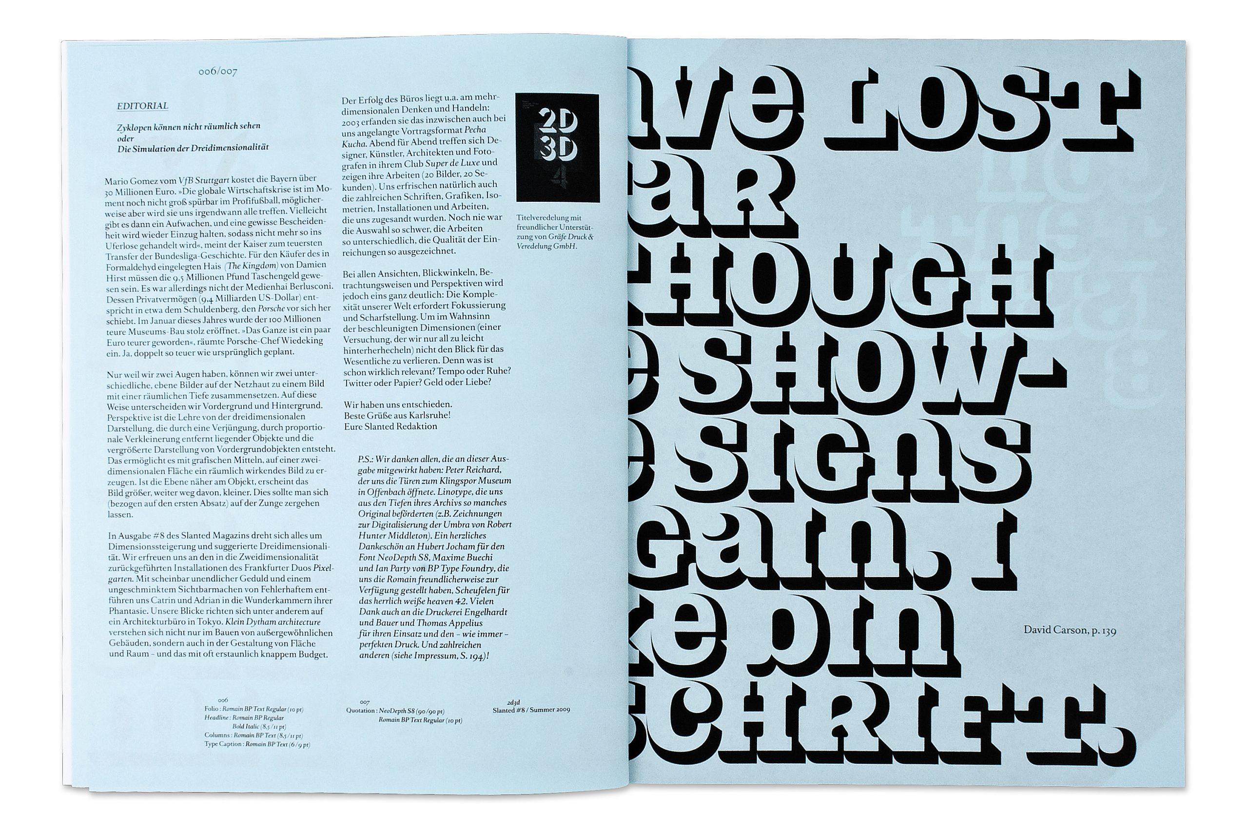 Slanted Magazin #8 – 2d3d