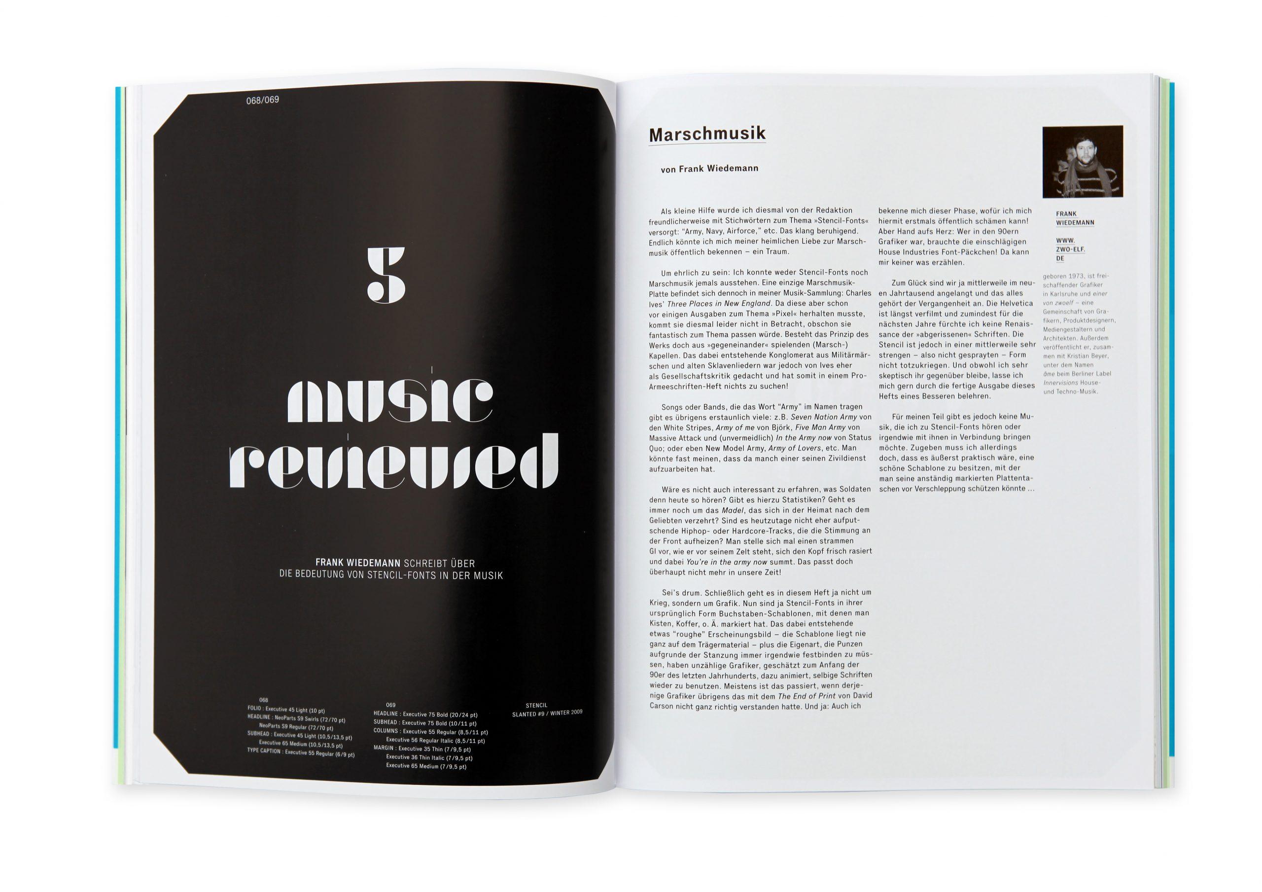 Slanted Magazin #9 – Stencil. Type.