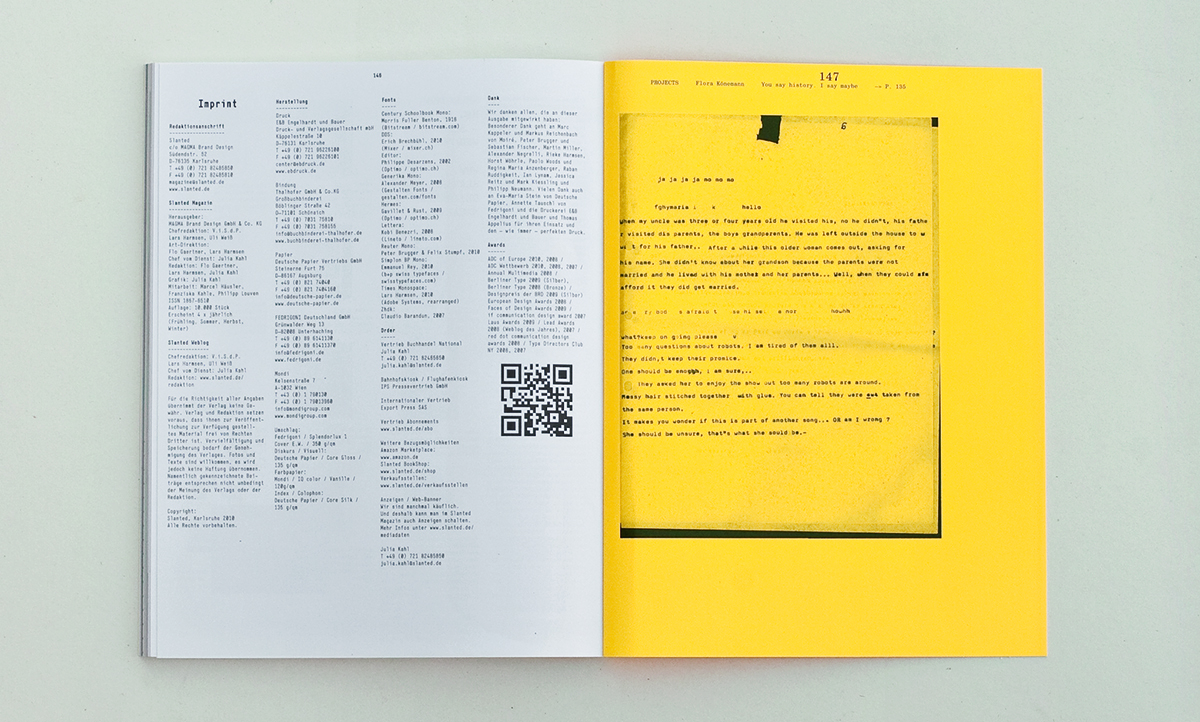 Slanted Magazin #11 – Monospace, Typewriter