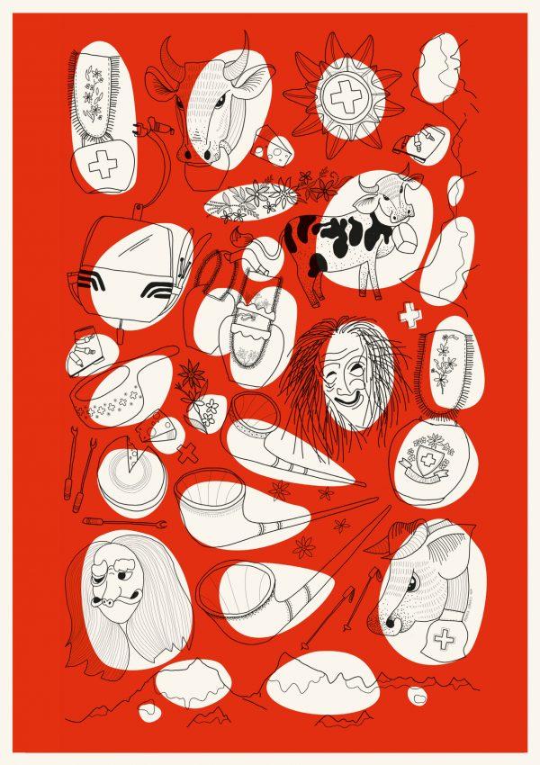 Helvetica Illustrated Riso Print – Andrea Forgacs