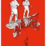 Helvetica Illustrated Riso Print – Christian Grossert - slanted