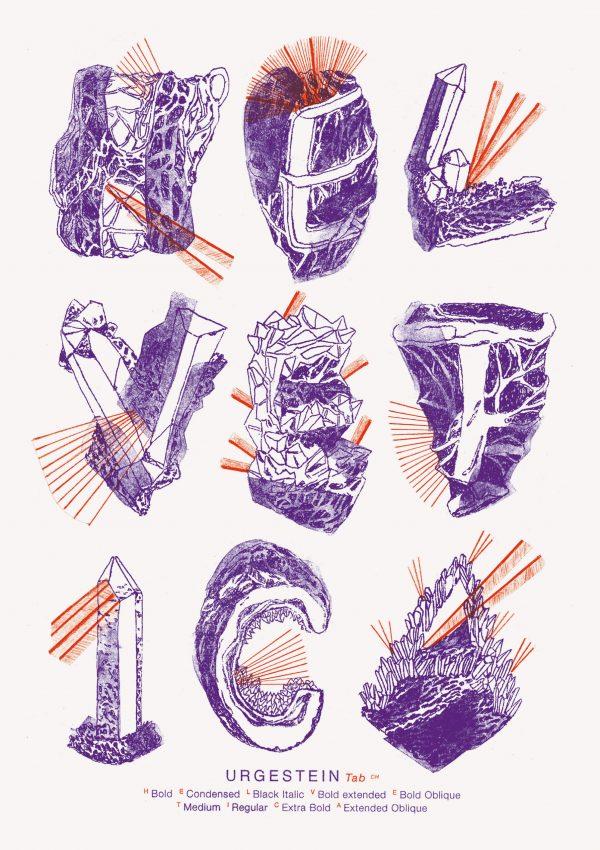 Helvetica Illustrated Riso Print – Paula Troxler