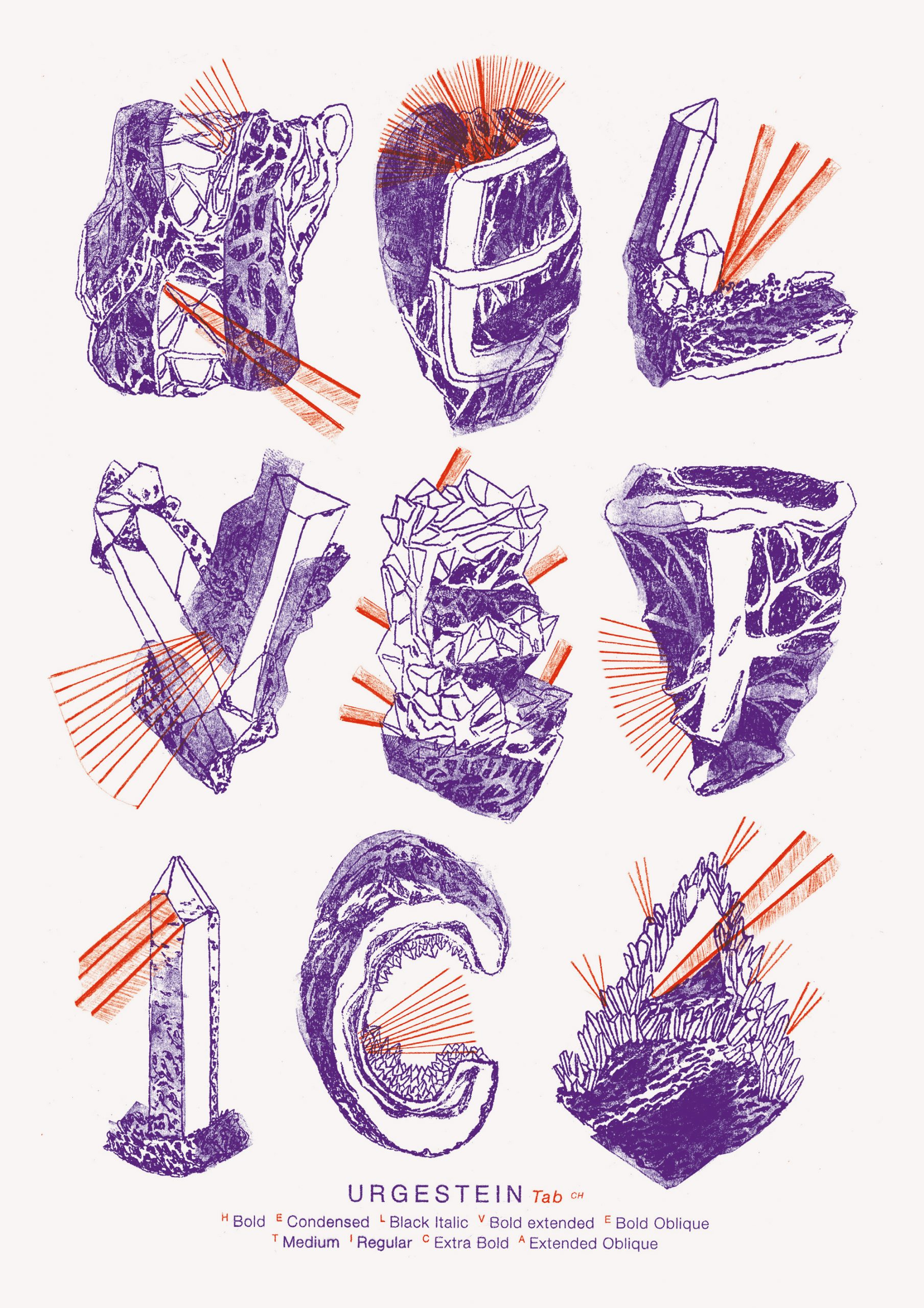 Helvetica Illustrated Riso Print – Paula Troxler