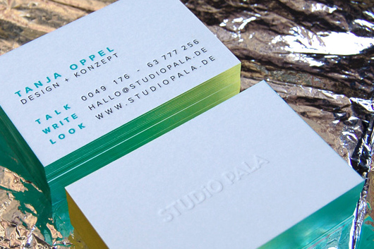 Letterpress Visitenkarten Studio Pala Slanted