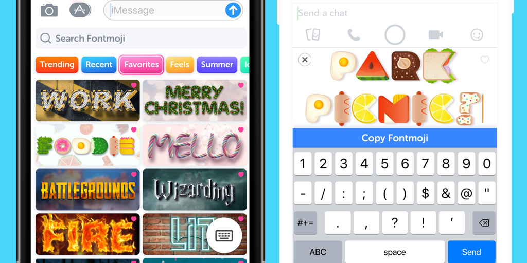 Fontmoji Mobile App