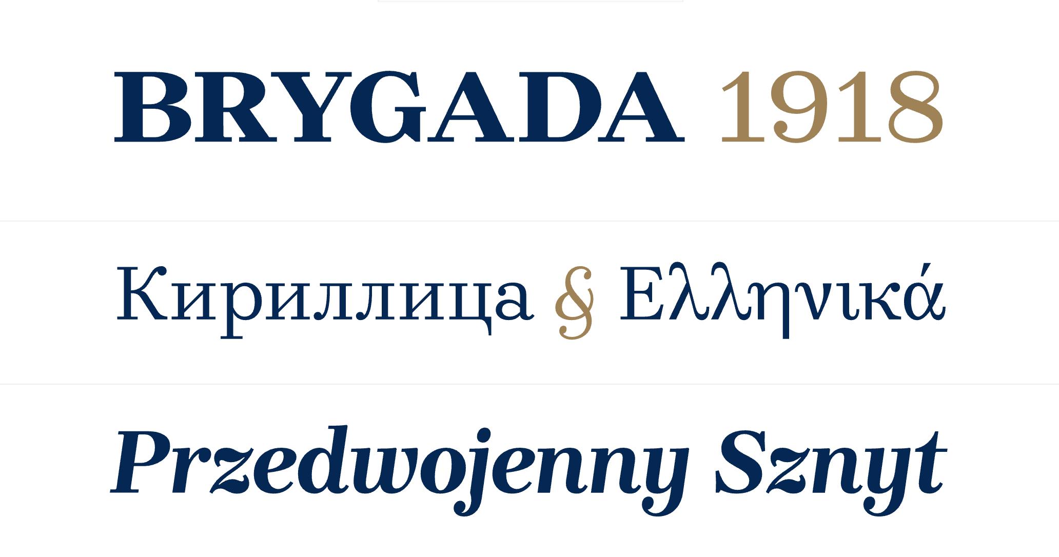 Brygada 1918 Typeface