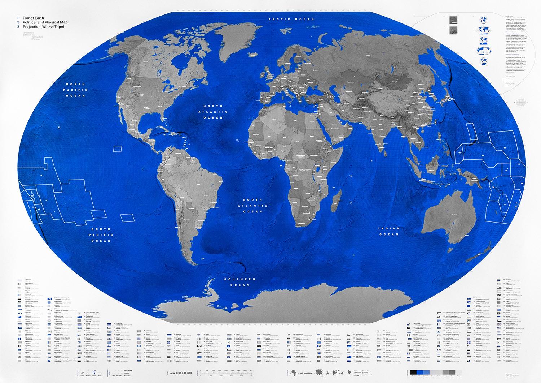 Weltkarte PlaEarth   slanted