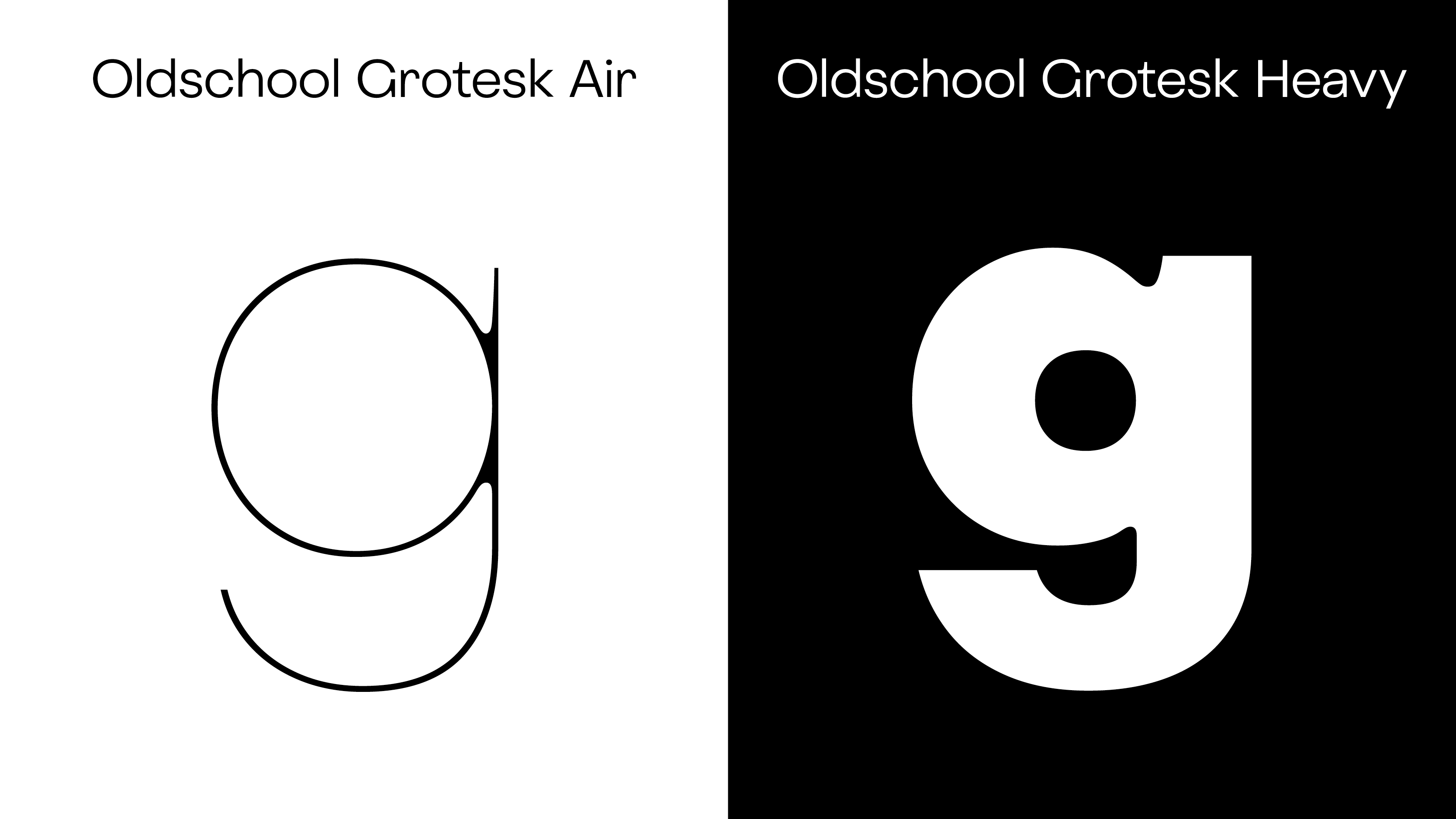 Typeface of the Month: Oldschool Grotesk - slanted