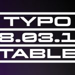 Typotable No. 1