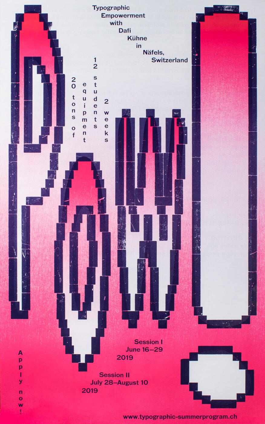 Typographic Summer Program with Dafi Kühne - slanted
