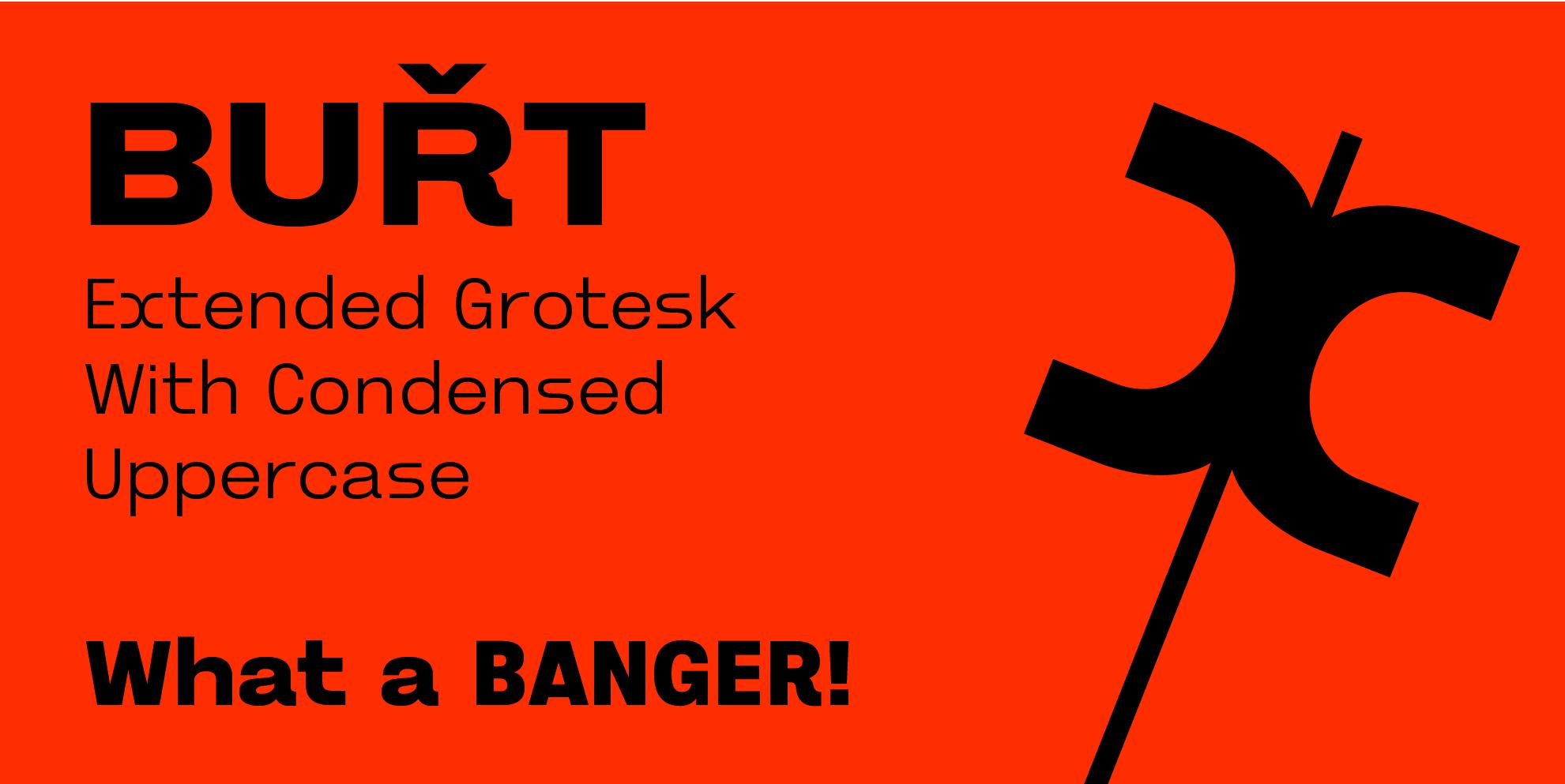 Burt Font - slanted