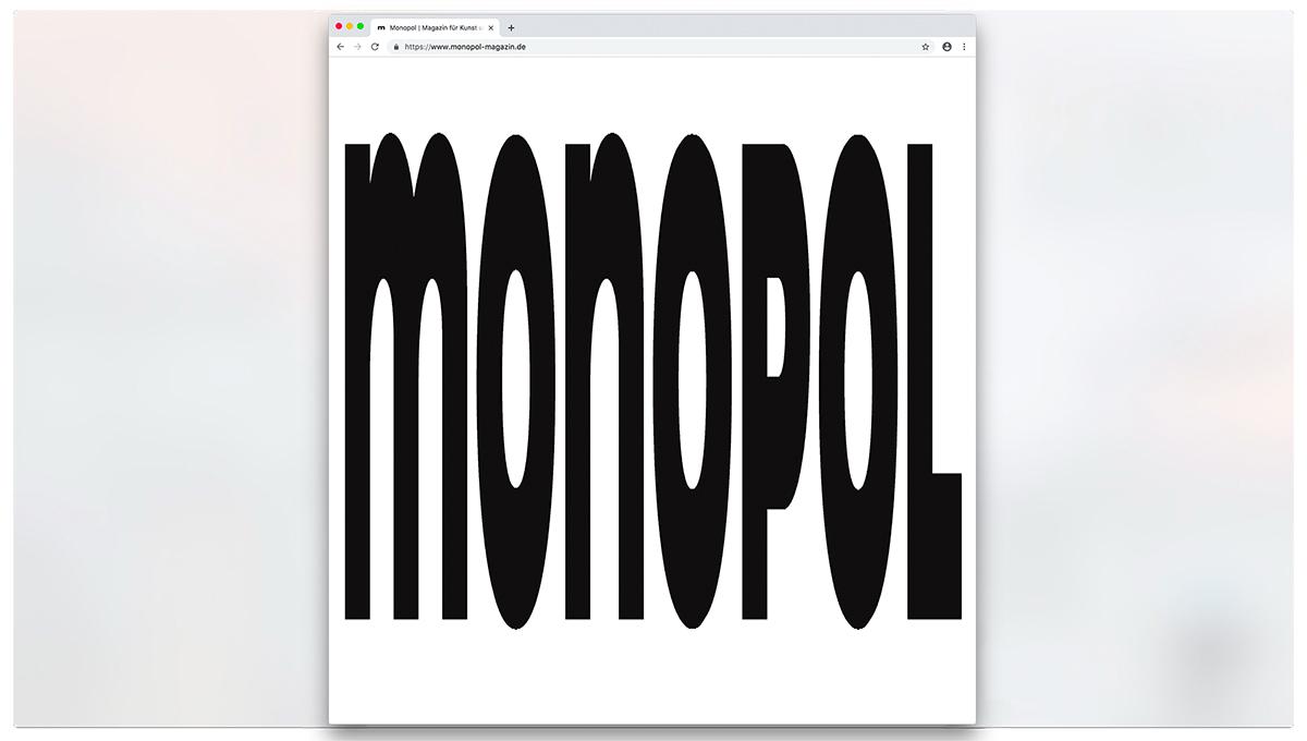 Relaunch von Monopol-Online - Studio Last - slanted