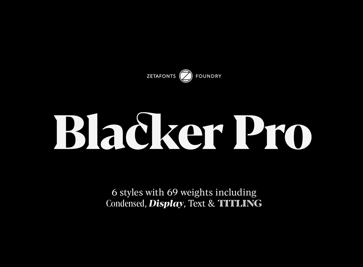 Zetafonts Blacker Pro