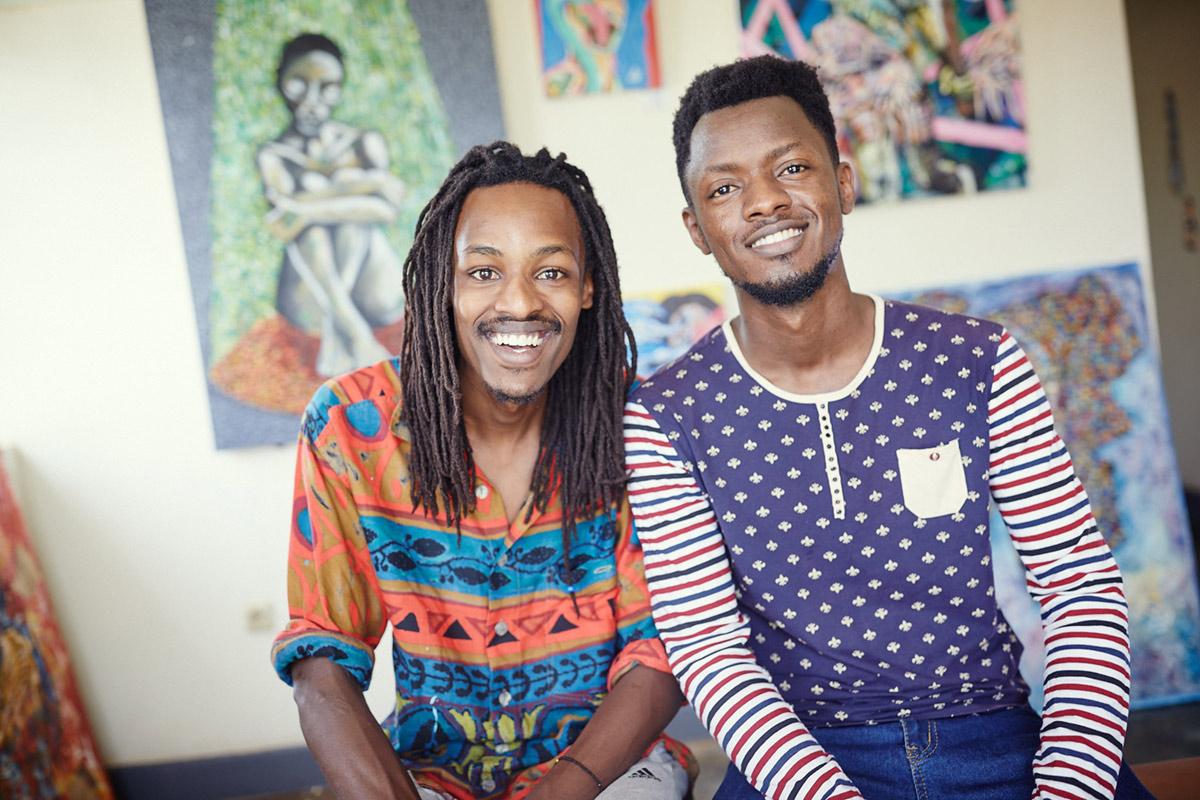 Slanted in Ruanda: Niyonkuru Canda und Manzi Jackson / Kuuru Art Space