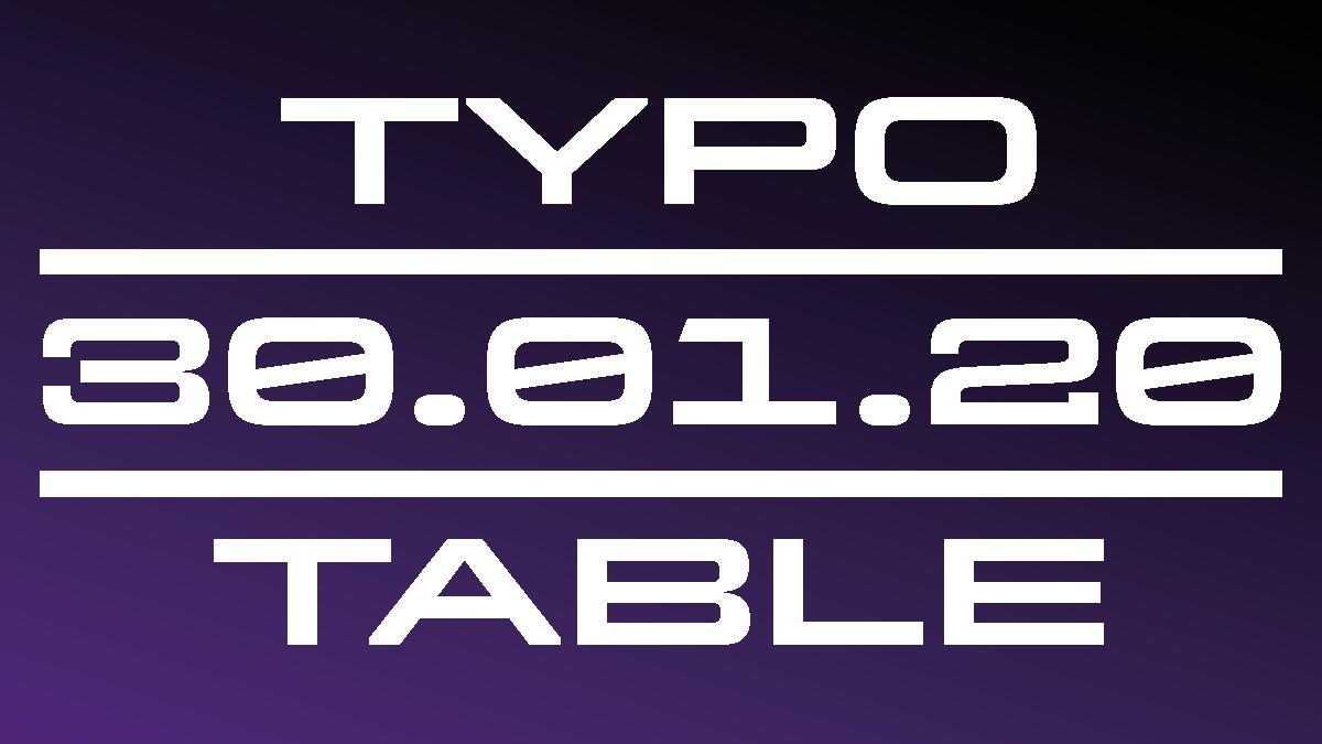 Typotable №4—Print meets Motion