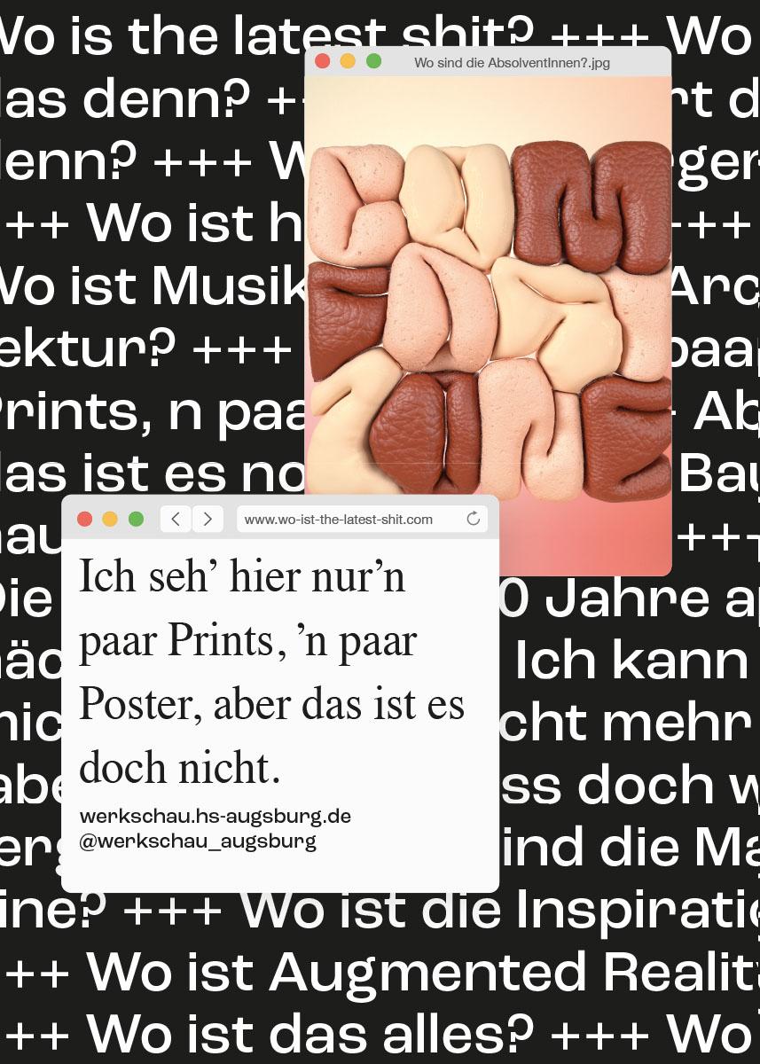 Wo ist the latest shit? Werkschau Augsburg