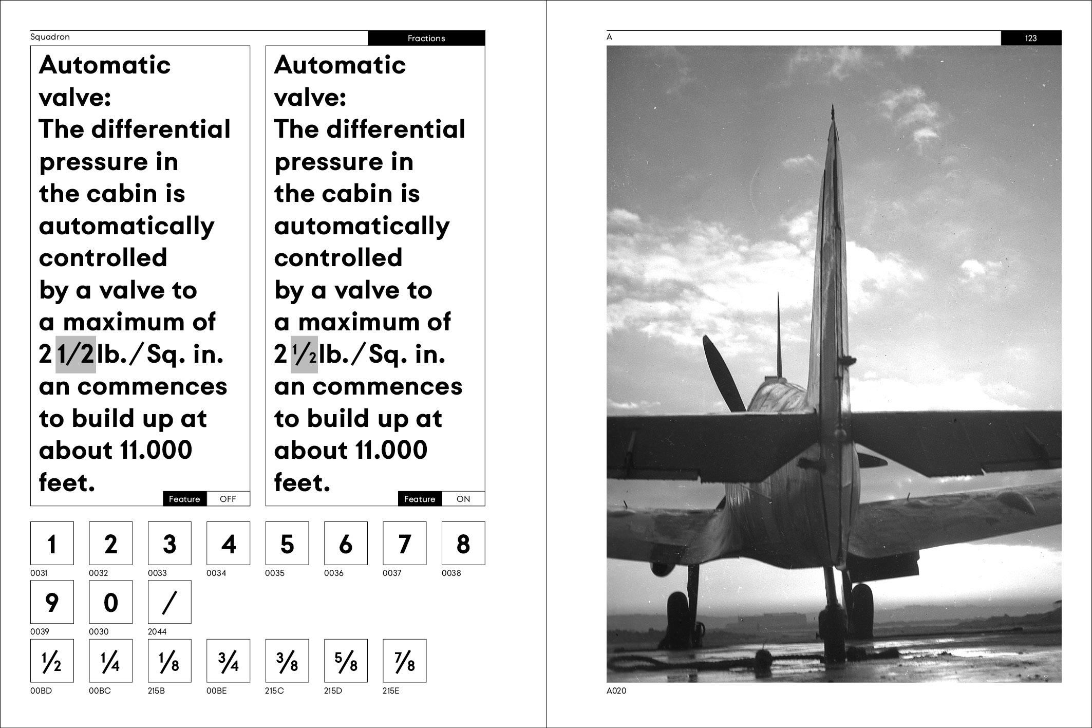 Squadron Typeface Specimen Book