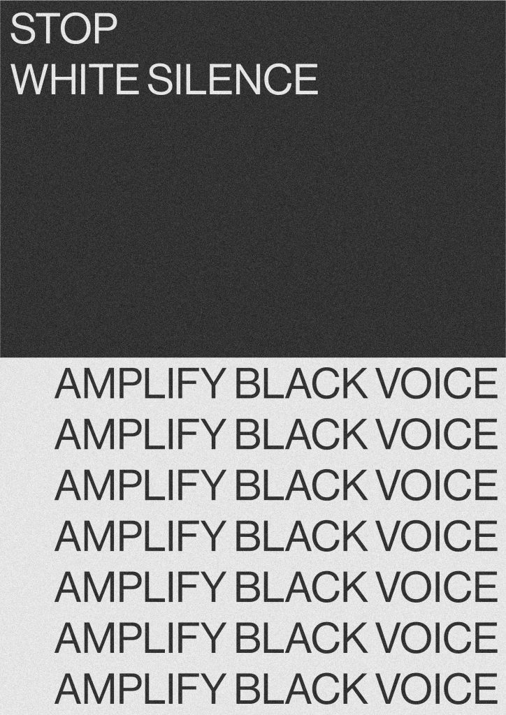 stop white silence/ amplify black voice