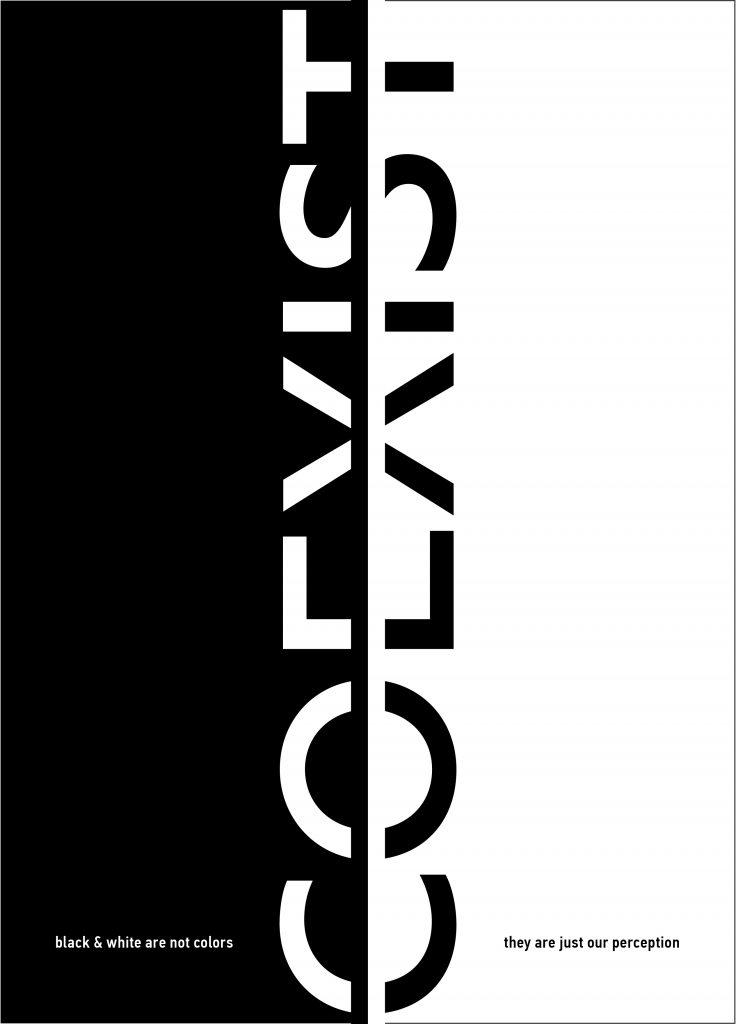 Coexist - Black & White