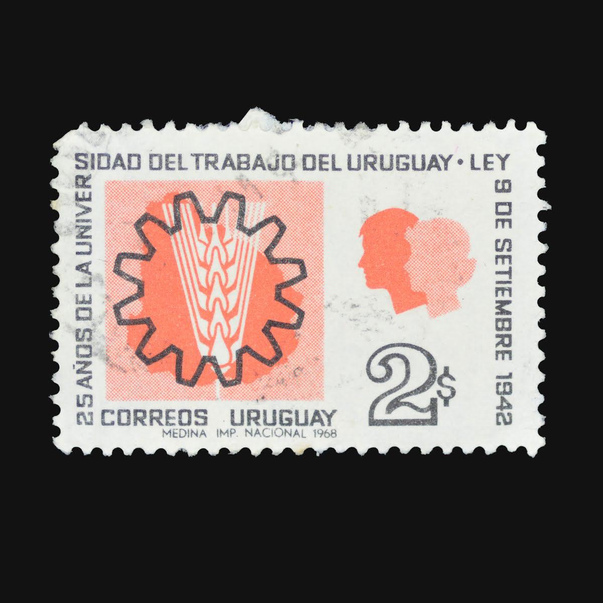 Slanted-1200px-25-años-de-la-Universidad-de-Trabajo-✺-25-Years-of-the-Trade-School-✺-Ángel-Medina-✺-$2-✺-1968