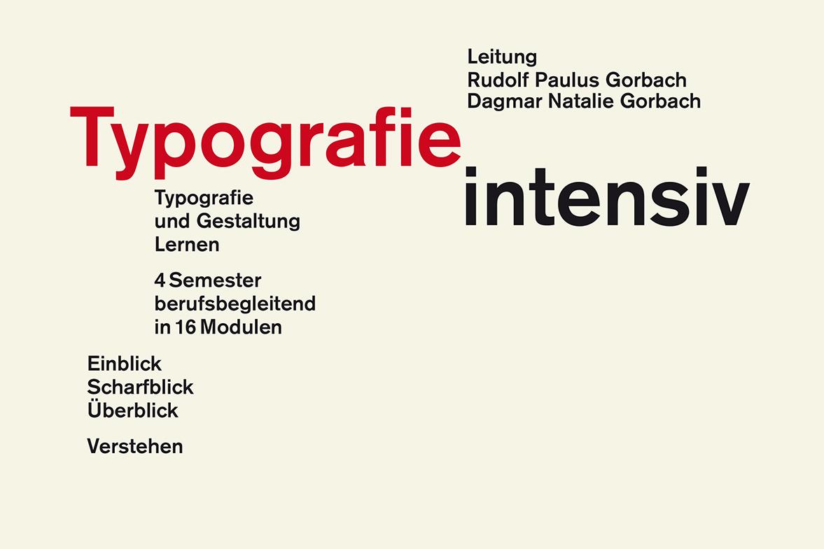 Typografie Intensiv