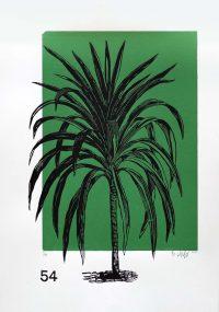 Lino Print (A3) | Cordyline australis