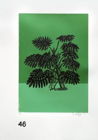 Lino Print (A3) | Monstera deliciosa