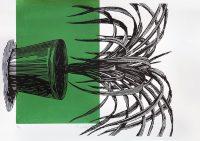 Lino Print (A4) | Pandanus utilis