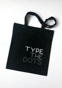 """Type The Dots"" Tote Bag"