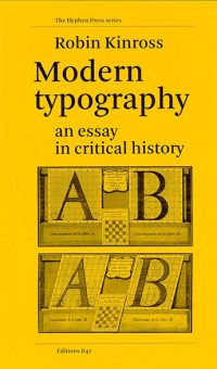 Modern Typography • Robin Kinross