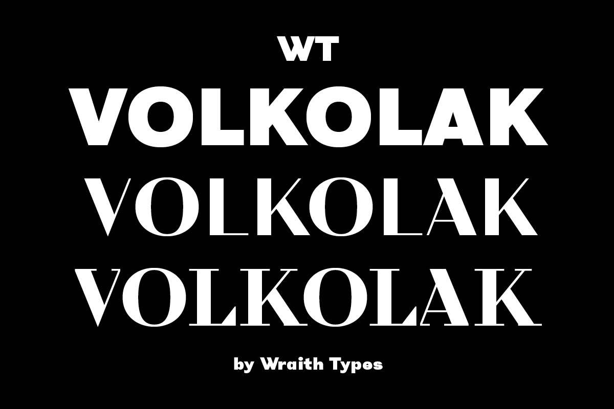 Typeface of the Month: WT Volkolak
