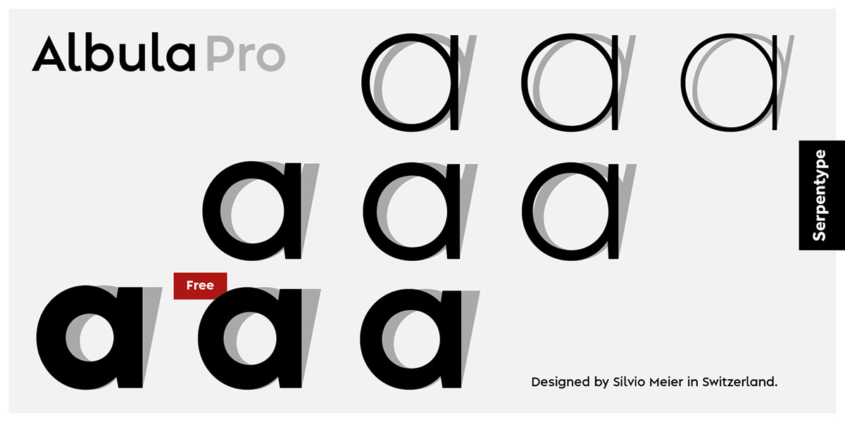 Typeface of the Month: Albula Pro