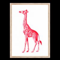 Artprint Giraffe | Risograph Art Print