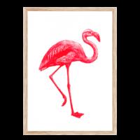 Artprint Flamingo | Risograph Art Print