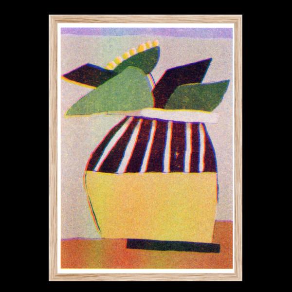 Artprint Uwasu Vase   Risograph Art Print
