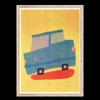 Artprint Uwasu Auto | Risograph Art Print