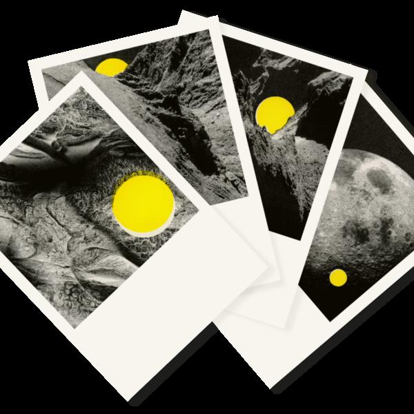 Sonne & Mond | 4 Dreamy Risograph Postcards