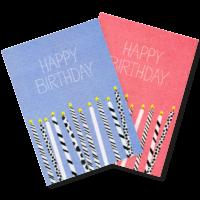 Happy Happy | 2 Risograph Postcards