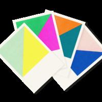 Win-Win | 4 Colorful Risograph Postcards