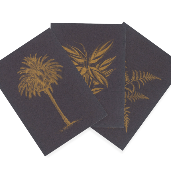 Goldenes Grün | Golden Green Trio | Riso Postcards
