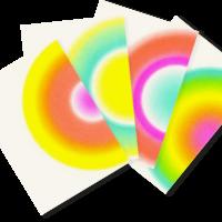 Regenbögen | Rainbow | 4 Colorful Risograph Postcards